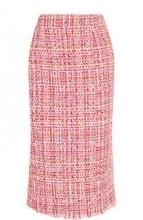 Буклированная юбка-карандаш с разрезом Alexander McQueen