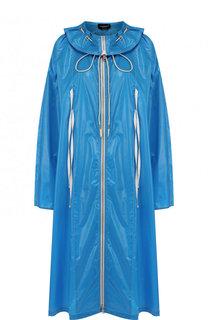 Однотонное пальто на молнии с воротником-стойкой CALVIN KLEIN 205W39NYC