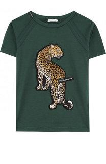 Хлопковая футболка с аппликацией Dolce & Gabbana