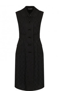 Жилет фактурной вязки с накладными карманами на пуговицах Dolce & Gabbana