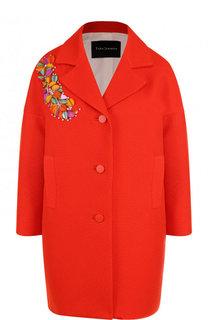 Однотонное хлопковое пальто с декорированной отделкой Tara Jarmon
