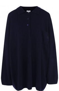 Шерстяное поло свободного кроя с накладным карманом Loewe