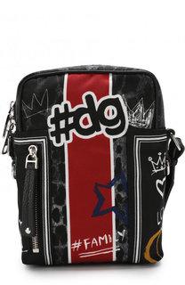 Текстильная сумка-планшет Vulcano с принтом Dolce & Gabbana