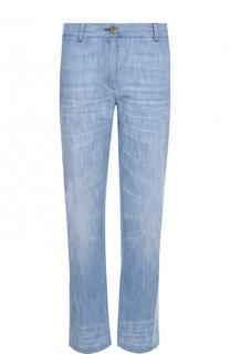 Укороченные джинсы с потертостями Gucci