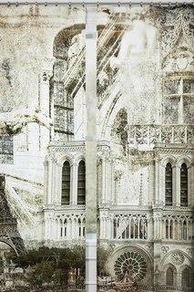 Фотошторы Париж в стиле ретро Сирень