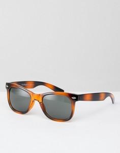 Квадратные солнцезащитные очки в черепаховой оправе AJ Morgan Hey Ya - Коричневый