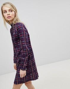 Платье-рубашка в шотландскую клетку Fred Perry - Мульти