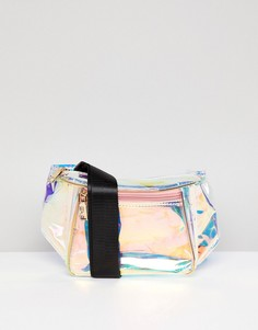 Переливающаяся сумка-кошелек на пояс Yoki Fashion - Серебряный