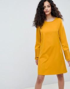 Свободное платье с рукавами клеш Parisian - Желтый