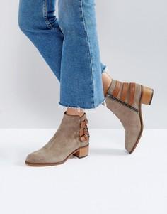 Кожаные ботинки с пряжками H by Hudson - Рыжий