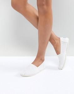 Белые туфли с кружевом кроше TOMS - Белый