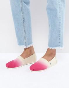 Красные туфли с эффектом деграде TOMS - Кремовый