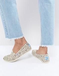 Туфли с золотистой отделкой TOMS - Бежевый