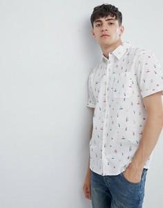 Рубашка с пляжным принтом D-Struct - Белый
