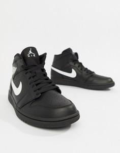 Черные кроссовки средней высоты Nike Air Jordan 1 554724-049 - Черный