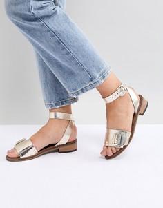 Кожаные сандалии H by Hudson - Золотой