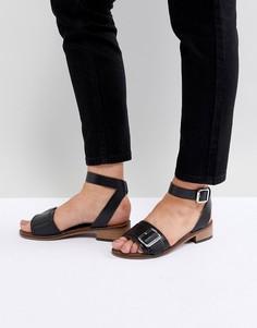 Кожаные сандалии H by Hudson - Черный