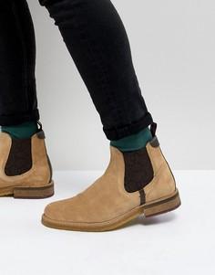 Светло-бежевые замшевые ботинки челси Ted Baker - Светло-бежевый