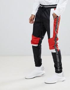 Черные спортивные джоггеры со вставками Granted - Черный