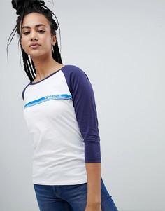 Бейсбольная футболка с рукавами реглан и логотипом Wrangler - Белый