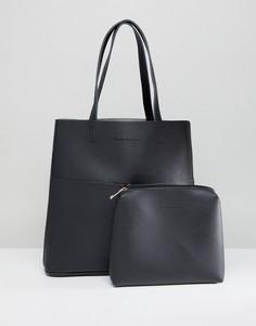 Сумка-тоут без подкладки с двумя карманами Claudia Canova - Черный