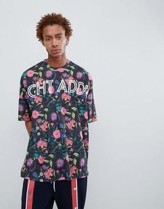 Oversize-футболка с принтом Night Addict - Черный