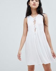Платье с завязкой NYTT Chelsea - Белый