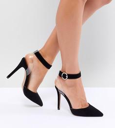 Туфли на каблуке с прозрачным ремешком QUPID - Черный