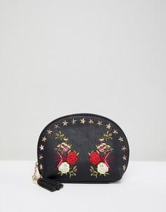 Косметичка с вышивкой Yoki Fashion - Черный