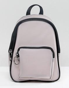 Рюкзак с контрастной черной отделкой Yoki Fashion - Серый