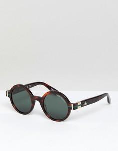 Круглые солнцезащитные очки Vivienne Westwood - Коричневый