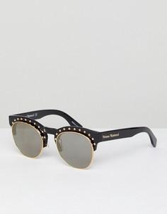 Солнцезащитные очки с заклепками Vivienne Westwood - Черный