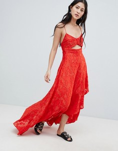 Платье макси Free People Buona Serra - Красный