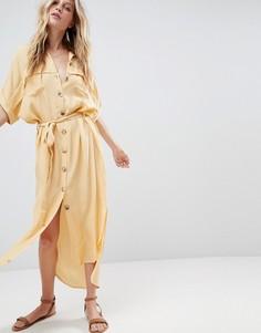 Платье-рубашка на пуговицах Faithfull - Желтый