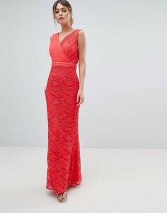 Платье макси с кружевом Little Mistress - Розовый