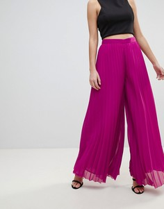 Плиссированные брюки-палаццо Morgan - Розовый