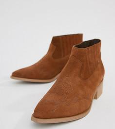 Кожаные ботинки Vero Moda - Рыжий