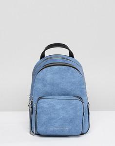 Джинсовый рюкзак на молнии Juicy Couture - Синий