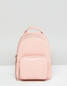 Розовый мини-рюкзак с молнией Juicy Couture - Розовый