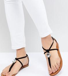 Декорированные сандалии London Rebel - Черный