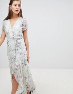 Платье с запахом и цветочным принтом Hope & Ivy - Мульти
