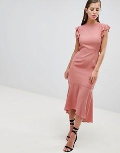 Платье-футляр с оборками Hope & Ivy - Розовый