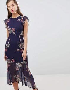 Платье-футляр с решеткой из лямок на спине Hope & Ivy - Темно-синий