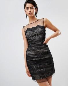 Кружевное платье мини Forever Unique - Черный