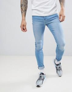 Супероблегающие синие джинсы LDN DNM - Синий