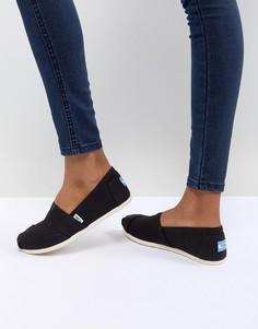 Черные классические парусиновые туфли TOMS - Черный