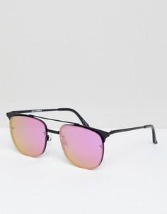 Солнцезащитные очки-авиаторы Quay Australia Private Eyes - Серебряный