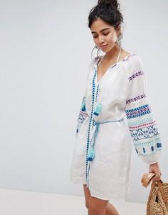 Платье с вышивкой Seafolly - Белый