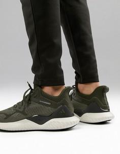 Кроссовки цвета хаки adidas Running Alphabounce 2 BW1247 - Зеленый