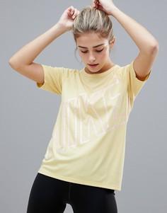 Футболка с короткими рукавами Nike Running Dry Miler - Желтый